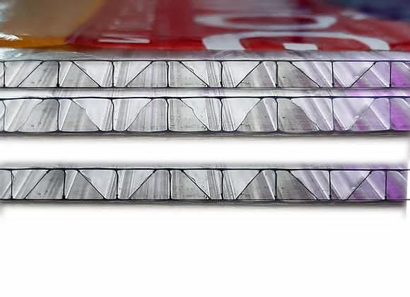 Сотовый поликарбонат WOGGEL 4мм усиленный прозрачный